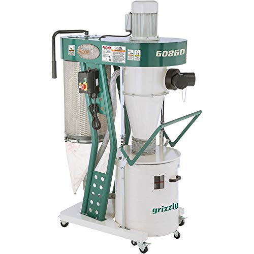 - Grizzly Industrial G0860-1-1/2 HP Portable Cyclone Dust Collector