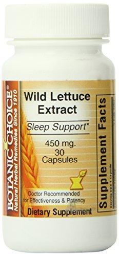 - Botanic Choice Wild Lettuce Extract Capsules, 30 Count by Botanic Choice