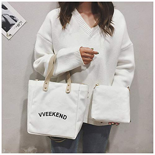 sac femme Messenger coréens toile Harajuku de femmes sac LANDONA Sac étudiants Sacs Blanc ROxwq1Znt1