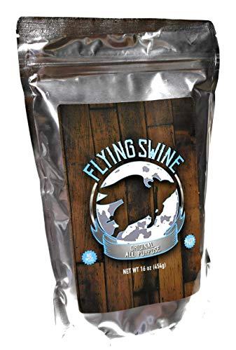 Flying Swine Original All Purpose BBQ Rub 16 Oz - Award Winning Butt Rub Seasoning & Grilling Spice - Great for Smoking Meat, Rib Rub, Brisket Rub, Pork & Chicken Marinade - No MSG & Gluten Free (Best Meat For Bbq Ribs)