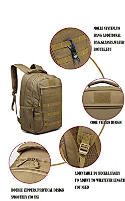 Camo Backpack Military Backpack 2 Days 40L Assault Pack for Men