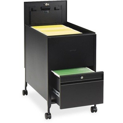 Safco Products 5364BL Locking Mobile Tub File with Drawer, Letter Size, Black