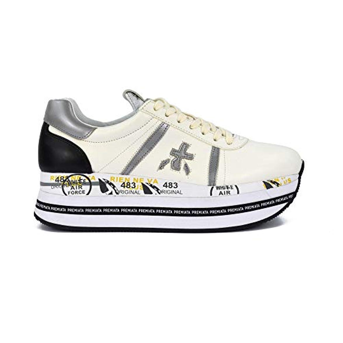 Premiata Sneakers Beth In Pelle Bianco