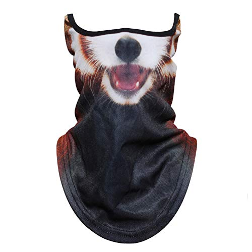 WTACTFUL Animal 3D Neck Gaiter Warmer Windproof Face Mask Scarf Headband Bandana Protection for Cycling Motorbike Motorcycle Skiing Snowboard Hunting Hiking Halloween Cosplay Party Funny Red Panda