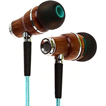 Symphonized NRG 2.0 Earbuds with Microphone, Noise Isolating Headphones Earbuds Heavy Deep Bass Earphones Ear Buds, In Ear Headphones for iPhone Android Phone iPad Tablet Laptop and More (Turquoise)