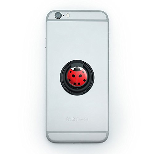 - Mobile Phone Finger Ring Grip Holder Stand Insects Ladybug Butterfly Dragonfly - Lady Bug Ladybug Insect