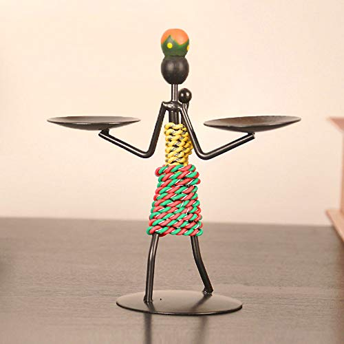 Figurine Figurines Statue Statues Statuettefigurine Creative Wrought Iron Candlestick Home Decorations Candlelight Dinner Table Small Ornaments European Minimalist Candle Holders (Hands Support)