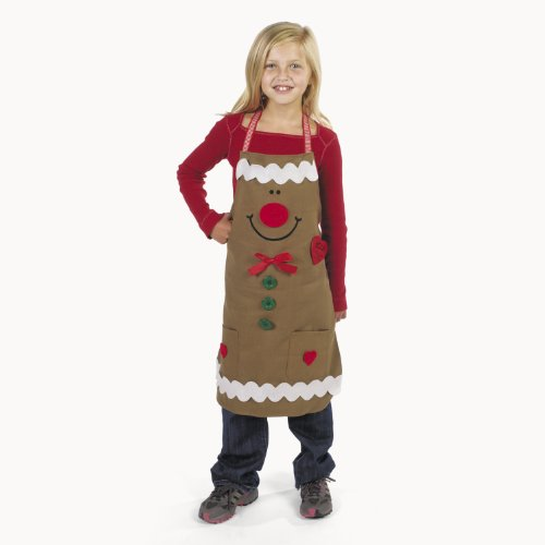 Gingerbread Child Apron Craft Kit Christmas Holiday ()