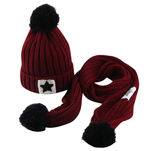 Gbell Toddler Baby Winter Knitted Hat and Scarf