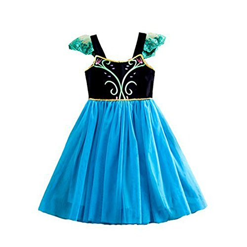 Anna Baby Costume Frozen (Frozen Princess Elsa Anna Dress Costume Fairy Princess Dress (6-12 Months, Blue))