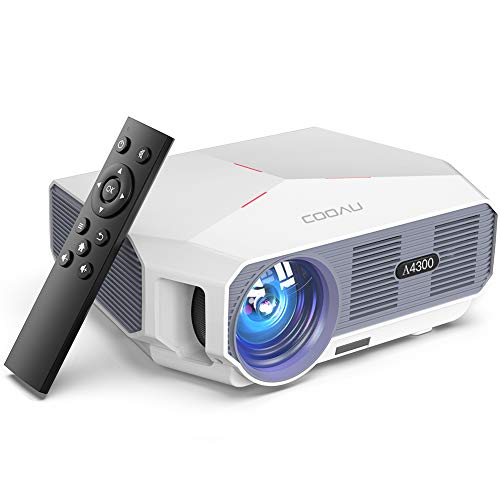 Projector, COOAU 5500 Lumens Outdoor Movie Projectors, Support 1080P Playing, Zoom Function and Sync Smartphone Screen…
