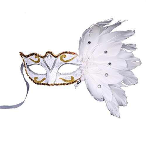 Clmund Halloween Mask Make Up Prom Masquerade Christmas Feather Painted Birthday Party Mask