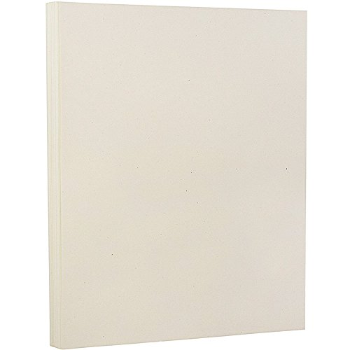 JAM PAPER Recycled 80lb Cardstock - 8.5 x 11 Coverstock - Milkweed Genesis - 50 Sheets/Pack -