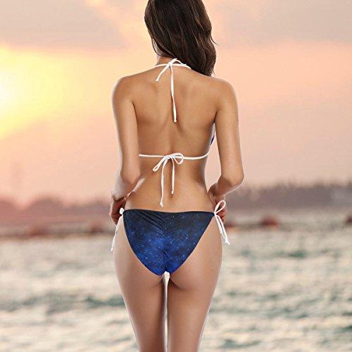 ba Mujer ador Nebulosa Bikini traje de multicolor Estrella o Ba Alaza Degradado Galaxia de Azul Dos piezas Ew8614pqWd