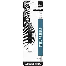 Zebra Pen F-301 F-Refill Medium 2-Pack Card, 85412 (Black)