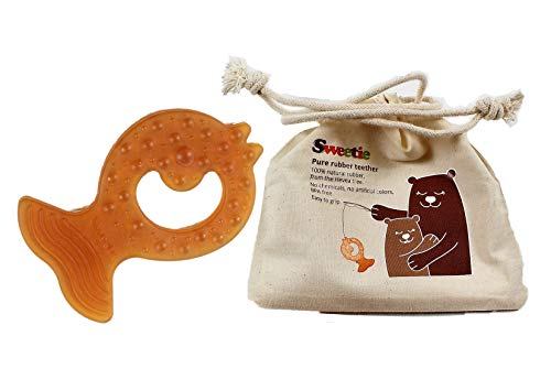 Amazon.com: Sweetie Pure Natural Rubber teether BPA ...