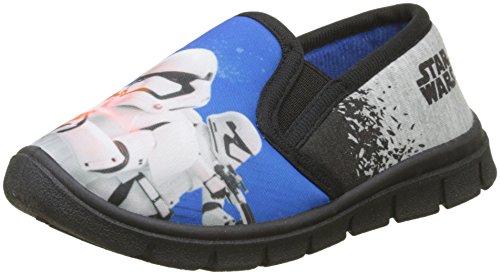 Star Wars Boys Kids Slipon Houseshoes, Zapatillas de estar Por Casa Para Niños Varios colores (Dark Blue)
