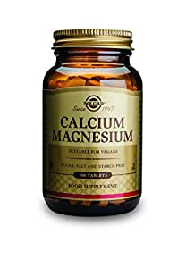 Solgar Calcium Magnesium Tablets, 100 Count