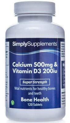 Calcio 500mg y Vitamina D3 200iu - 120 Comprimidos - Hasta 4 meses de suministro -