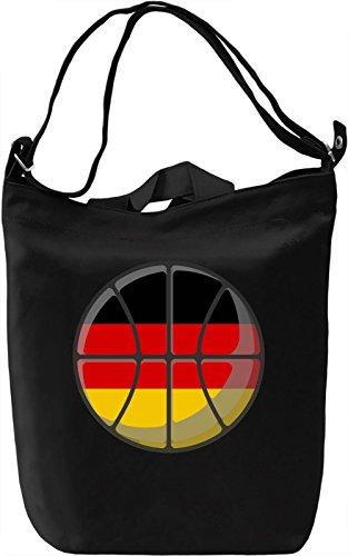 Germany Basketball Borsa Giornaliera Canvas Canvas Day Bag| 100% Premium Cotton Canvas| DTG Printing|