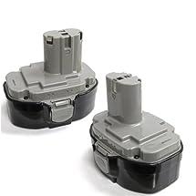 2 x ExpertPower® 18v 3000mAh NiMh Extended Battery for Makita 1823 1833 1834 1835 1835F 192828-1 192829-9 193061-8 193102-0 193140-2 193159-1 193783-0
