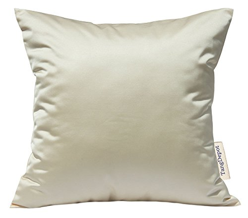 TangDepot Solid Silky Throw Pillow Covers, Shining and Luxury Cushion Covers, Euro Shams, European Throw Pillow Covers, Indoor/Outdoor - (24
