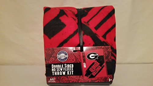 The Northwest Company NCAA Georgia Bulldogs Double Sided No Sew Fleece Blanket (Georgia Bulldogs Fleece Throw)