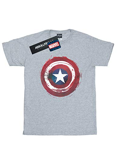 Shield Captain Gris Homme America Sport Splatter Marvel T shirt 5IqRA