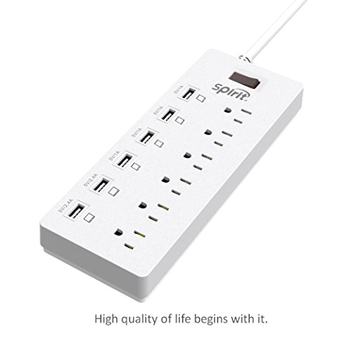 spirit-6-outlet-surge-protector-6ft-cord-power-strip-with-6-ports-usb-charging-station-white