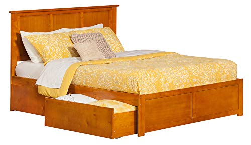 Atlantic Furniture AR8652117 Madison Bed, King, Caramel