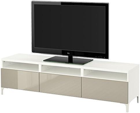 Zigzag Trading Ltd IKEA BESTA - Mueble TV con cajones Blanco/selsviken Alto Brillo/Color Beige: Amazon.es: Hogar