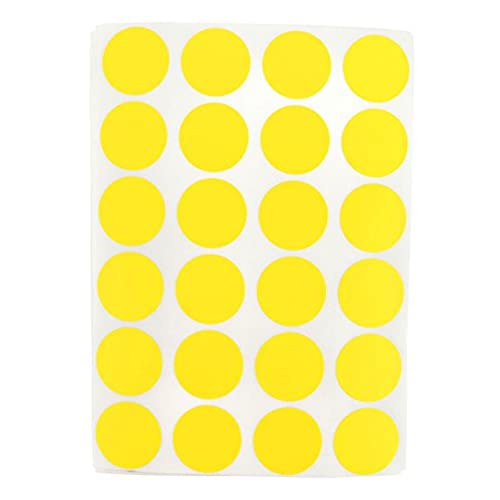 Round Yellow Stickers