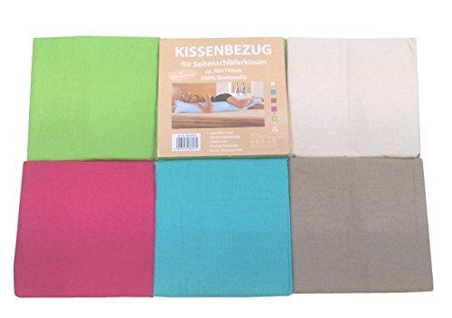 Bezug für Seitenschläferkissen aus Baumwolle ca. 40x145 mit RV (Beige)