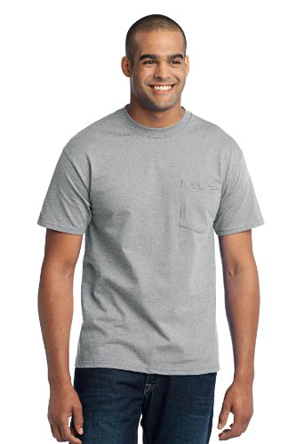 Port & Company Mens Tall 50/50 Cotton/Poly T Shirt with 4XLT Athletic Heather