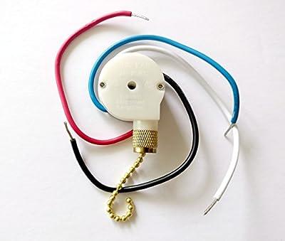 Zing Ear Ceiling Fan Pull Chain 3 Speed Control Switch Ze-208s E89885 Ceiling Fan Replacement Speed Control Switch for 3 Speed / 4 Wire Zing Ear