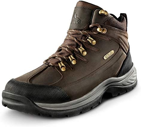 NORTIV 8 Men's Mid Ankle Waterproof Hiking Boots Mountaineering Trekking Outdoor Work Boots