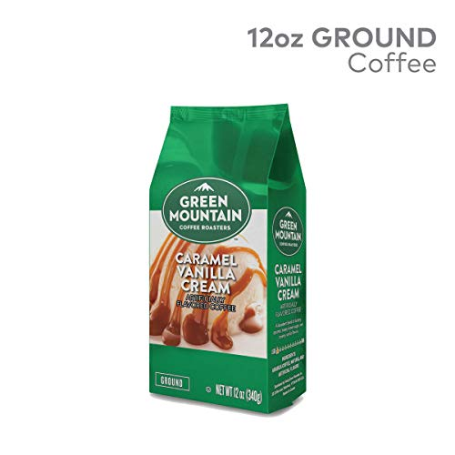 Green Mountain Coffee Roasters, Caramel Vanilla Cream, 12 oz. Ground Bag, Light Roast Coffee, (3) Bags (Green Mountain Caramel Vanilla Cream K Cups)