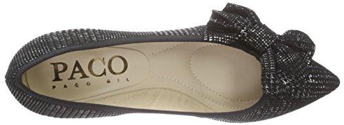 Paco Gil P2930 - zapatos de tacón cerrados de cuero mujer Plata - Silber (Pewter/Black)