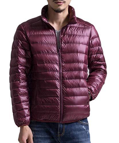 Puffer Mens Piumino Rosso Ripiegabile Outwear Eku Vino Idrorepellente Eq5rq
