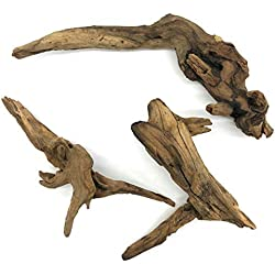 SubstrateSource Aquarium Pacific Driftwood - Small (3 Pack)
