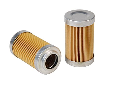 "Aeromotive 12601 Replacement Filter Element, 10-Micron Cellulose, Fits All 2"" OD Filter Housings"