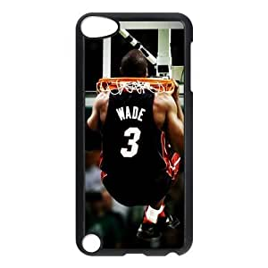 NBA Miami Heat wade bosh Curry Print Black Case With Hard Shell Cover for iPod Touch 5th