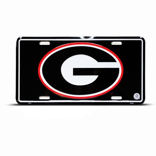 (Georgia Bulldogs College Metal College License Plate Wall Sign Tag)