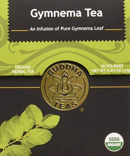 (Organic Gymnema Sylvestre Leaf Tea - Kosher, Caffeine Free, GMO-Free - 18 Bleach Free Tea Bags)