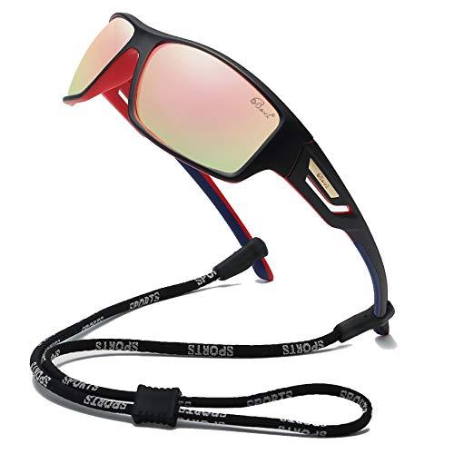 Bevi Polarized Sports Sunglasses TR90 Unbreakable Frame for Men Women Running Cycling Baseball 2518C6 (Best Mens Running Sunglasses)