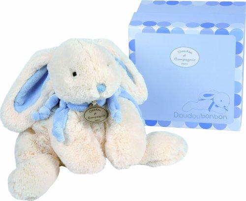 Doudou et Compagnie Lapin Bonbon Grand Modele - Bleu