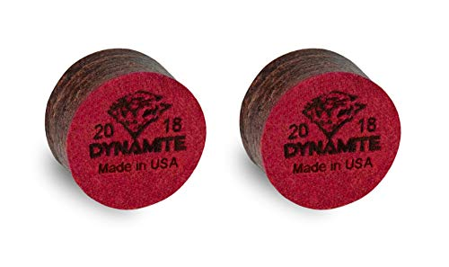 Tiger DYNAMITE Laminated Pool CUE TIPS 2 (two) pcs - Hard - 13 or 14 mm (14 mm) (Tiger Dynamite Tips)