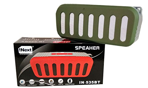 iNext 3D Sound Wireless Bluetooth Speaker with Mic  Green
