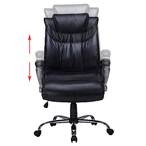 Viva office bonded leather high back thick padded chair for Home office chairs leather