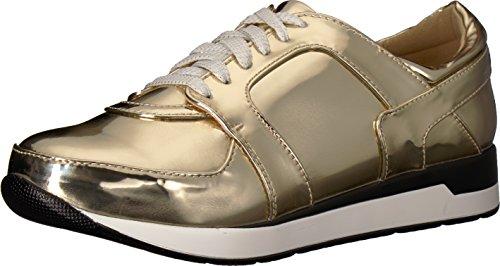Penny Loves Kenny Women's Techno Sneaker, Gold/Metallic, 9 Medium US ()